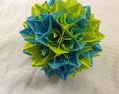 Green and Blue Paper Centerpiece