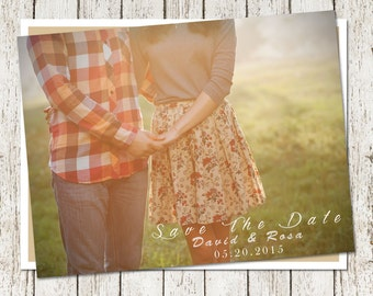 Customizable Wedding Invitation Photo-Save The Date Design