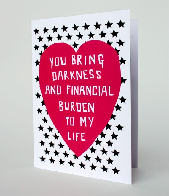 Funny Valentine Card Romantic Card Relationship Dark – Dark Valentines Day Cards