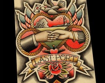 Last Port Traditional Tattoo Print