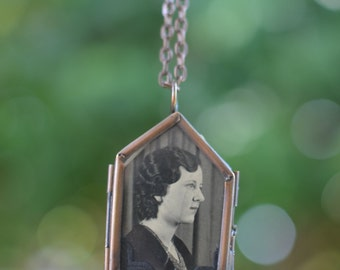 Strong Woman Necklace Hobo Sign Pendant with chain 1930s pendant