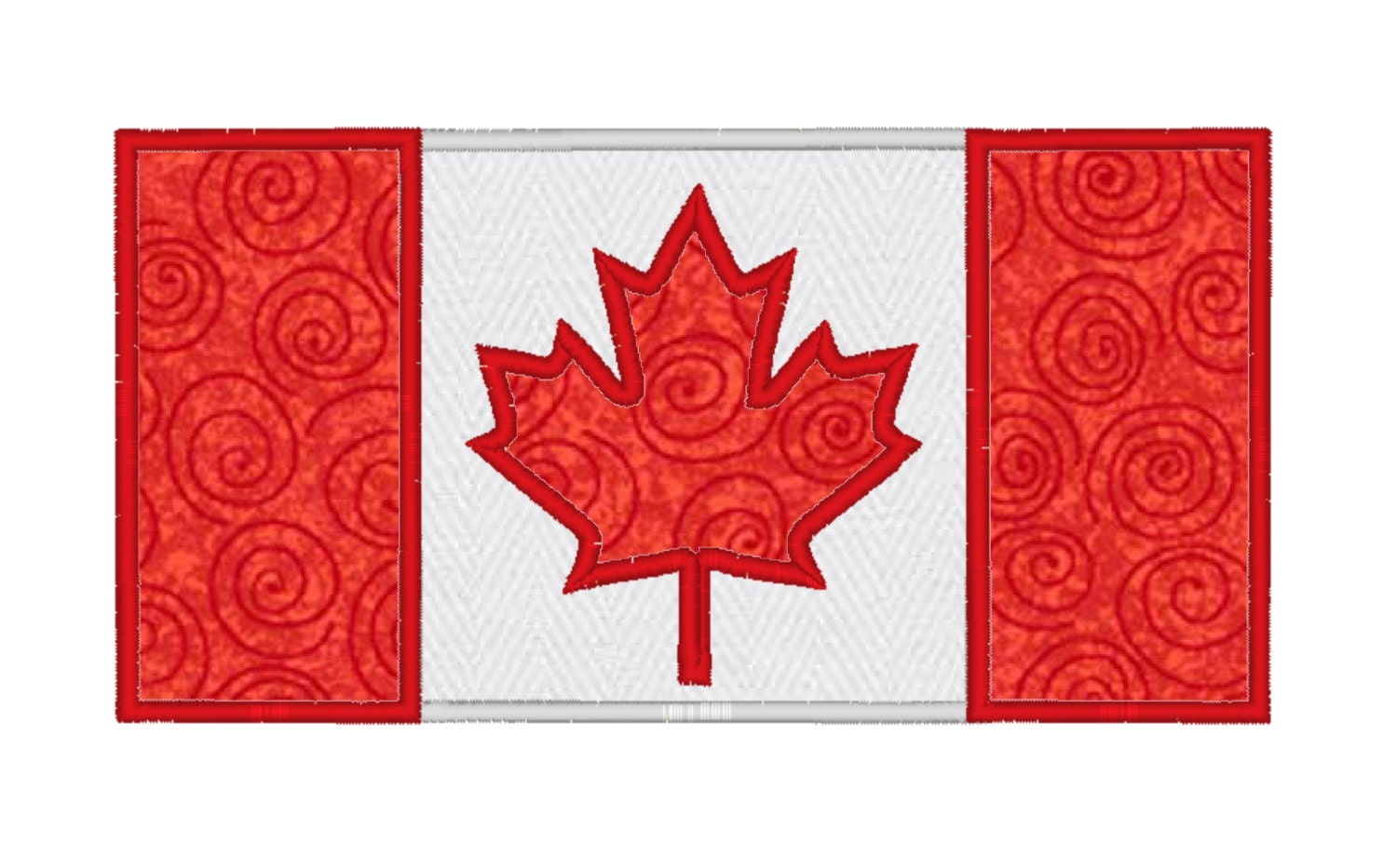 Canada flag embroidery pattern and applique by ocdembroidery