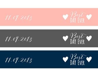 Printable Custom Wedding Straw Flags_ Stationery Sheet_Digital DIY_Best Day Ever