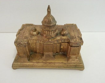 JB 1958 Metal Trinket Box - Capitol Washington DC