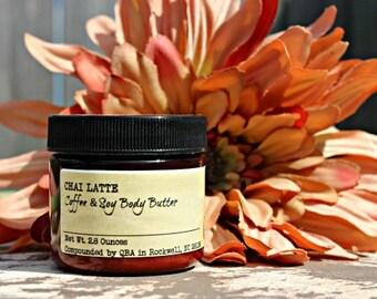 Hazelnut Latte - Coffee Soy Body Butter - Vegan Caffeine Butter Cream