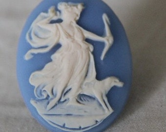 12 pcs of resin flower cameo 30x40mm-RC0324-cream on blue
