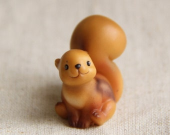 1 pcs cute 3D hand painted resin  bunny squirrel  cabochon flat back  30mm tall