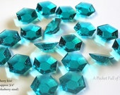 Shimmer and Shine Party, Cupcake Toppers, Cupcake Decor, Cake Topper, Candy Gems, Edible Jewels, Edible DIAMONDS, Teal, 30 pcs Ready To Ship