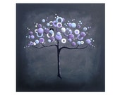 "Abstract, modern, wedding tree painting on 8x8"" gallery canvas by Little Sparrow Gallery"