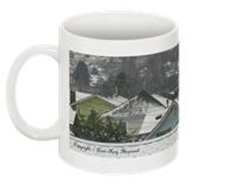 Aberdeen Snow: Kurt Cobain's Hometown! 10 oz Coffee Mug