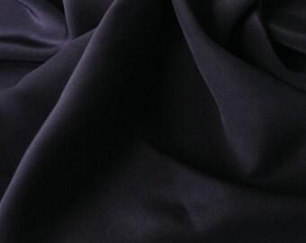 Navy Narrow Silk Georgette Fabric (by the yard)