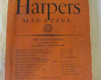Harpers Magazine March 1928 Vandercook Flynn Draper Tunis Huddleston ... CL22-5
