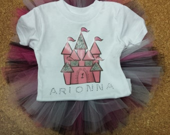 Girls Castle Tutu Outfit.