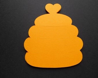 Beehive And Bee Die Cuts In Your Choice Of Color  Birthday,Baby Shower,Place Marker,Tea