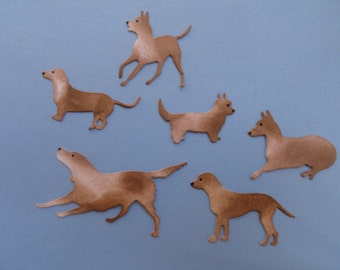 Mini Dogs for Cardmaking and Scrapbooking