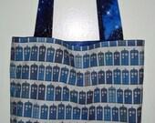 TARDIS in Space Totes Reversible Tote Bag (TARDIS/Space prints)