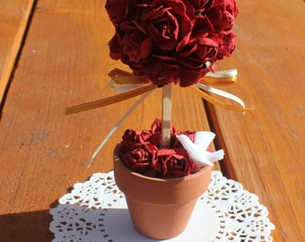 topiary tree wedding favor