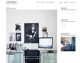 Wordpress template 'Lightness'