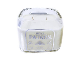 Repurposed Patron Tequila Soy Candle