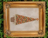 """Christmas Cross Stitch Instant Download PDF Pattern """"Beaded Elegance"""" X Stitch. Counted Embroidery Design. Yule Tree. X mas DIY Decor."""