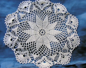 Antique Hand Made Fine Lace Doily Beautiful Delicate
