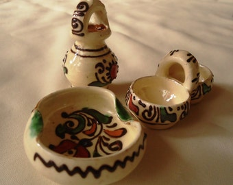 Set of 3 : Ceramic miniatures