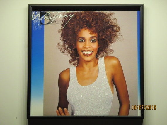 Glittered Record Album - Whitney Houston - Whitney
