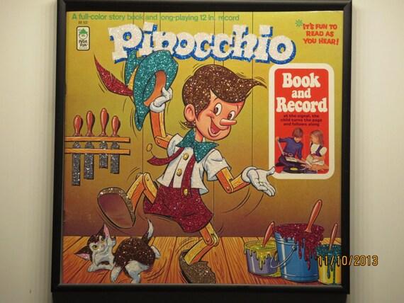 Glittered Record Album - Pinocchio - Disney