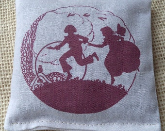 Lavender sachet, vintage children hoolahoop