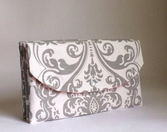 Grey Bridesmaid clutch/Gray Clutch/Weddings/Wedding Party/Bridesmaids/Gift Ideas