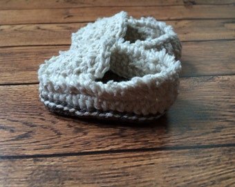 Frayed Baby Deck Shoes (MADE TO ORDER)