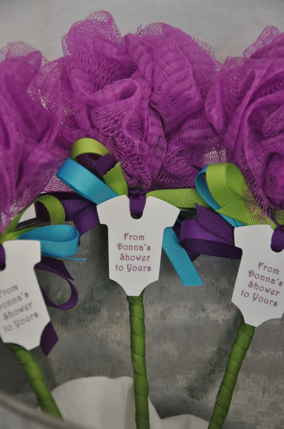 Unique Baby Shower Favor Purple Turquoise And By