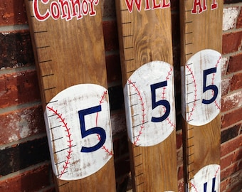 CUSTOM GROWTH CHART - Baseball Growth Chart