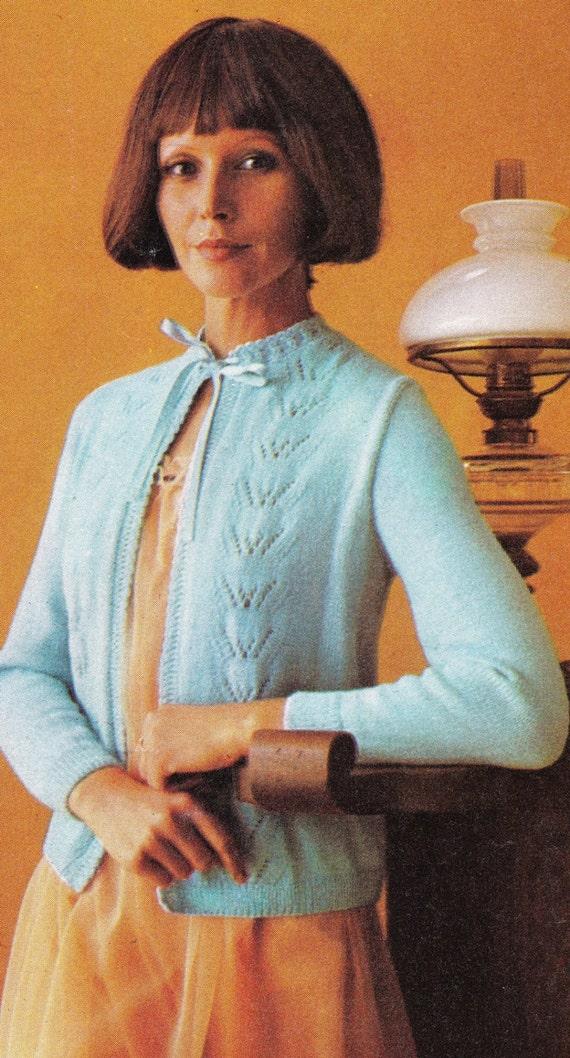 Vintage Bed Jacket Knitting Pattern : Lingerie Pattern - Vintage Ladies Bed Jacket - Housecoat Knitting Pattern - V...