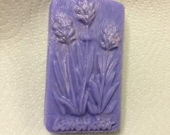 Creamy Lavender Goats Milk soap bar by Lavish Handcrafted