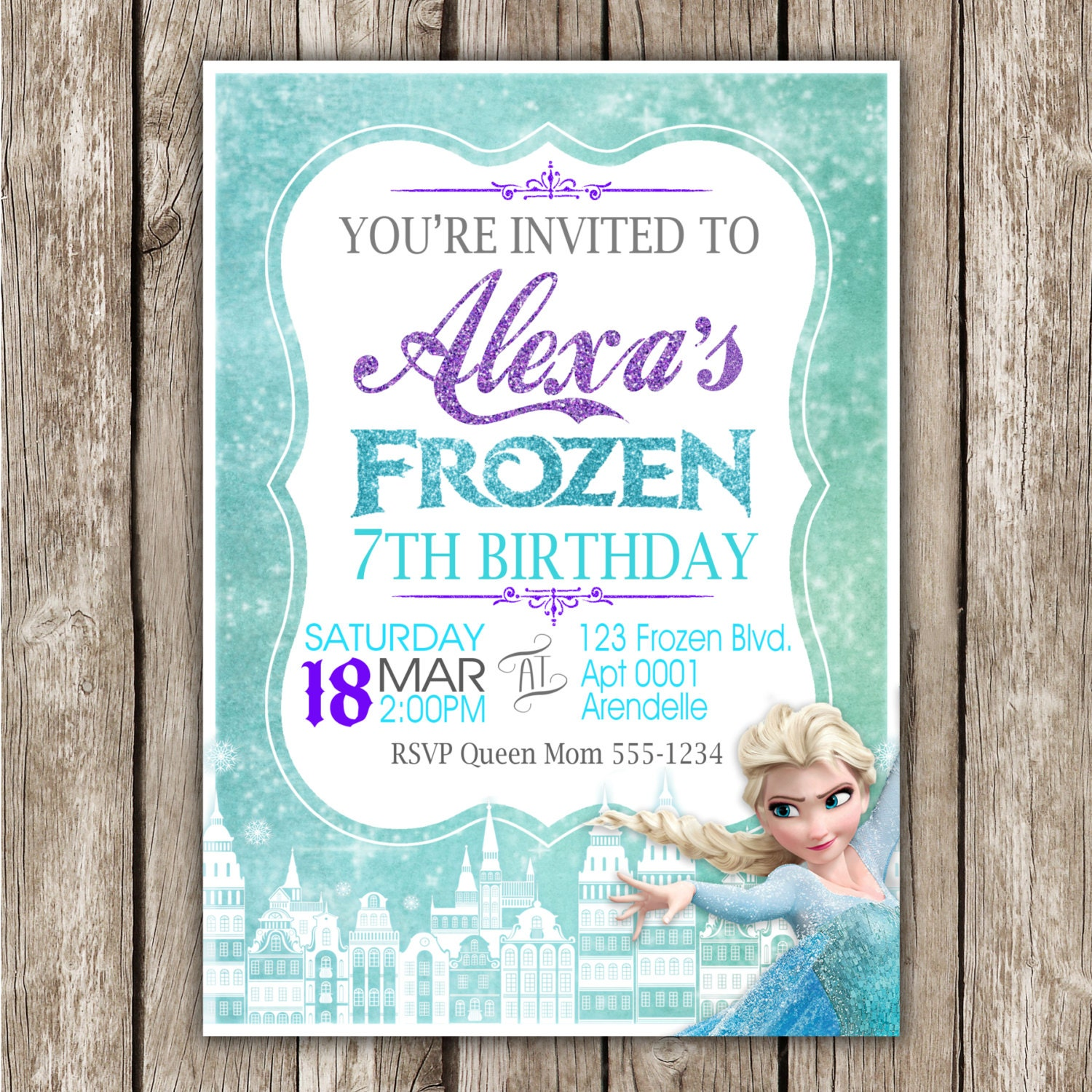 frozen birthday invitation frozen birthday party diy