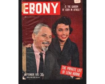 Vintage Magazine Cover, Ebony, September, 1953 ,  (Lena Horne) 058