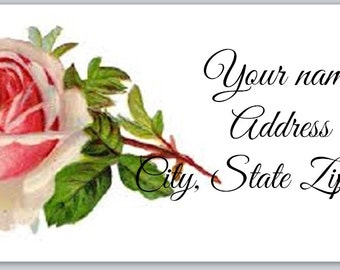 30 Personal Return Address Labels Rose. choose any picture (ro1)