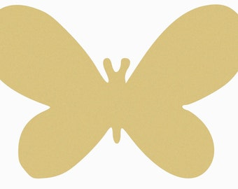 WIDE BUTTERFLY Unfinished Wooden Craft Shape, Do-It-Yourself