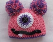 Cute Girls Crochet Monster Hat Beanie - Customizable with your Favorite Colors!