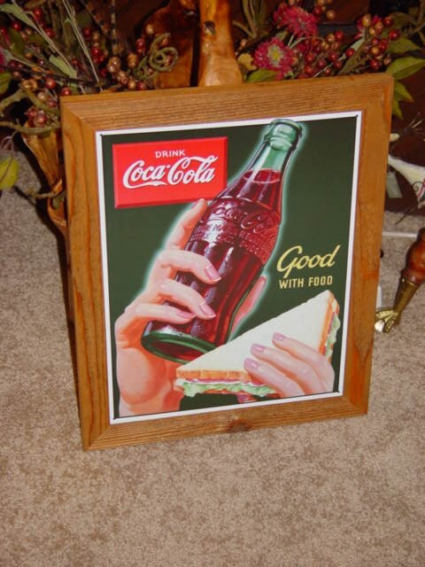 Personalized Man Cave Signs Free Shipping : Free shipping coca cola custom framed solid cedar wood