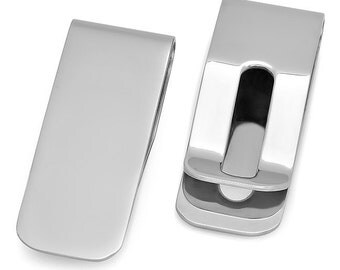 Quality Stainless Steel Small Money Clip - Free Engraving