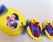 Snow White Inspired Birthday Banner Snow White Inspired Birthday Theme