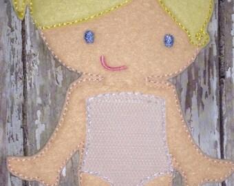 Olivia: Felt Girl Ballerina/Flower Girl Doll