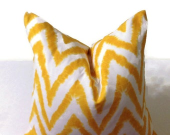 18x18 Yellow Premiere Print Decorative Throw Pillow Cover