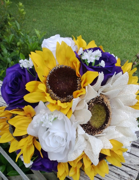 Sunflower And Pink Rose Bouquet Sunflower Bouquet Purp...