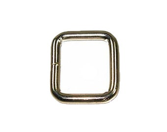 "Square - Welded Nickel Plated - 3/4"" x 7/8"" (4mm)"