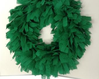 """26"""", Christmas Wreath, Burlap Christmas Wreath, Green Burlap Wreath, Green wreath, Holiday Wreath, Everyday Wreath"""