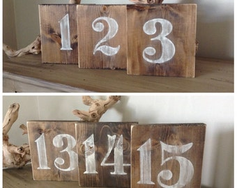Rustic Wood Table Numbers, Table Numbers, Wedding Table Numbers, Wood Numbers, Rustic Wedding