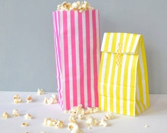 Striped Paper Pick And Mix Style Bags